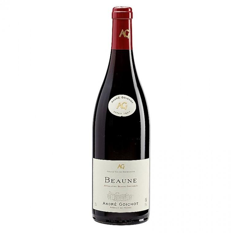 Bouteille de vin rouge Beaune Goichot