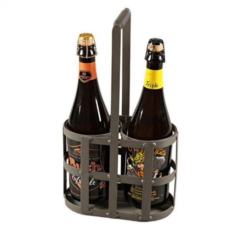 Porte Bouteille Panier Métal 2 bouteilles