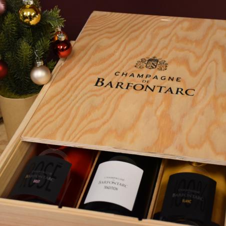 Coffret Bois de Barfontarc 3 bouteilles
